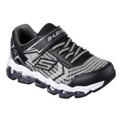 Boys' Skechers S Lights Turbo Flash Light Up Sneaker Black/Silver