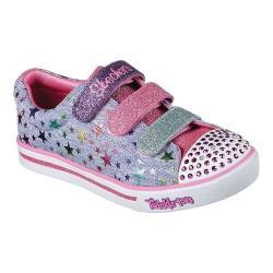 Girls' Skechers Twinkle Toes Shuffles Sparkle Glitz Sneaker Blue/Multi