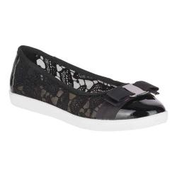 Women's Soft Style Fagan Ballet Flat Black Mesh/Patent Synthetic (More options available)