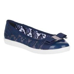 Women's Soft Style Fagan Ballet Flat Navy Mesh/Patent Synthetic (More options available)