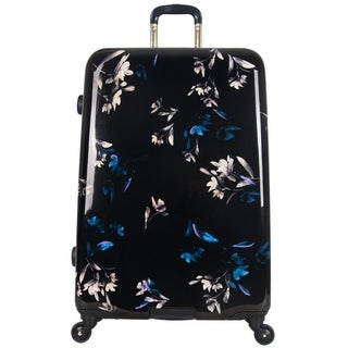 Aimee Kestenberg Midnight Floral 28-inch Lightweight Expandable Hardside Spinner Suitcase