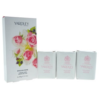 Yardley English Rose Women's 3.5-ounce Luxury Soaps (Pack of 3)