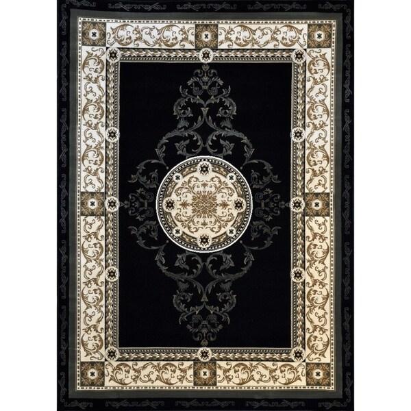 "Rug Tycoon Oriental Traditional Black Rug - 7'11""x9'10""rectangular"