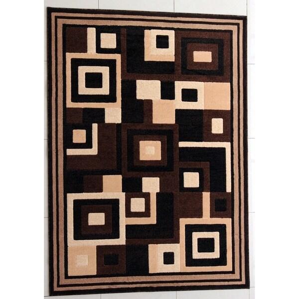 "Rug Tycoon Abstract Modern Contemporary Black Rug - 2'0""x7'2""rectangular runner"