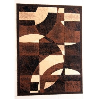 "Rug Tycoon Abstract Modern Contemporary Black Rug - 2'0""x7'2""rectangular runner"