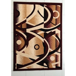 "Rug Tycoon Abstract Modern Contemporary Red Rug - 2'0""x7'2""rectangular runner"