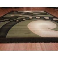 "Rug Tycoon Abstract Modern Contemporary Green Rug - 3'0""x5'0""rectangular"