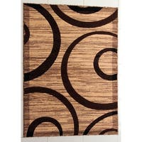 """Rug Tycoon Abstract Modern Contemporary Ivory Rug - 2'0""""x7'2""""rectangular runner"""