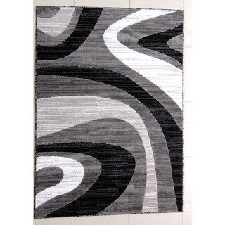"Rug Tycoon Abstract Modern Contemporary Grey Rug - 2'7""x9'10""rectangular runner"