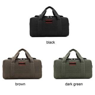 Large Capacity Canvas Leather Outdoor Travel Luggage Handbag