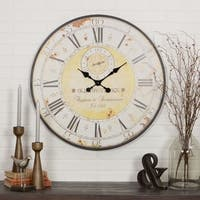 The Gray Barn Beat and Branch Round Wall Clock