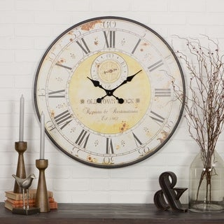 "Link to The Gray Barn Beat and Branch Round Wall Clock - 31.5""H x 31.5""W x 1""D Similar Items in Decorative Accessories"