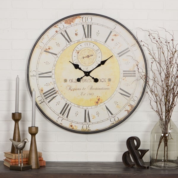 """The Gray Barn Beat and Branch Round Wall Clock - 31.5""""H x 31.5""""W x 1""""D. Opens flyout."""