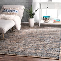 The Curated Nomad Konoval Handmade Flatweave Fiber Jute Area Rug