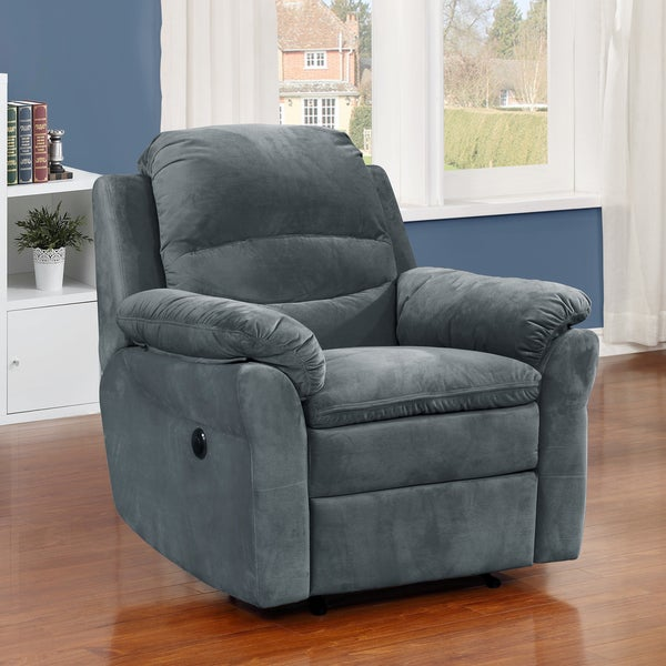 Copper Grove Shademill Dark Grey Fabric Electric Power Recliner