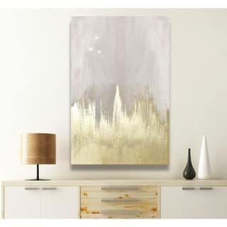 Silver Orchid Oliver Gal 'Offwhite Starry Night' Canvas Art - gold, gray
