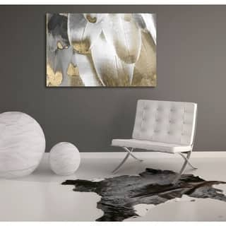 Silver Orchid Oliver Gal 'Royal Feathers' Canvas ArtGrey - gray, gold