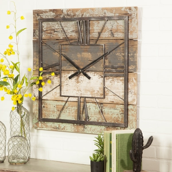 "The Gray Barn Jartop Square Wall Clock - 27.5""H x 27.5""W x 1.5""D"
