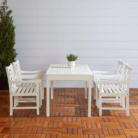 Bradley 5-piece Wood Patio Dining Set