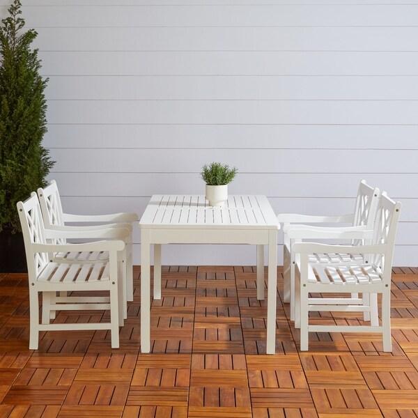 Havenside Home Surfside 5-piece Wood Patio Dining Set