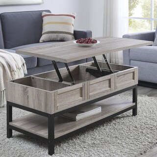 The Gray Barn Latigo Lift Top Sonoma Oak Coffee Table