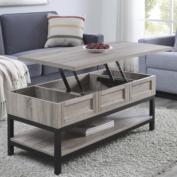 Shop The Gray Barn Latigo Lift Top Sonoma Oak Coffee Table