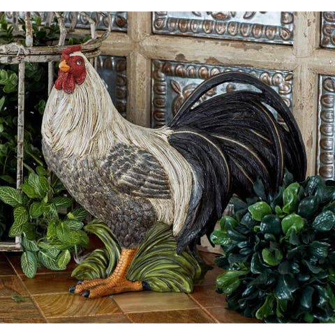 The Gray Barn Jartop Polystone 12-inch Rooster Figurine
