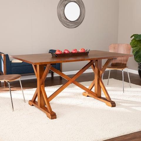 The Gray Barn Oriaga Farmhouse Trestle Dining Table
