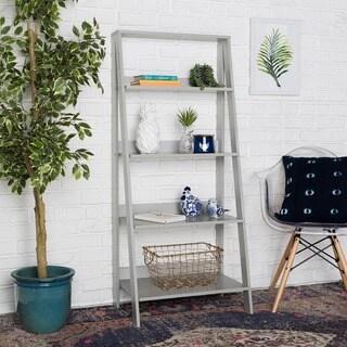The Gray Barn Kujawa 55-inch Grey Wood Ladder Bookshelf