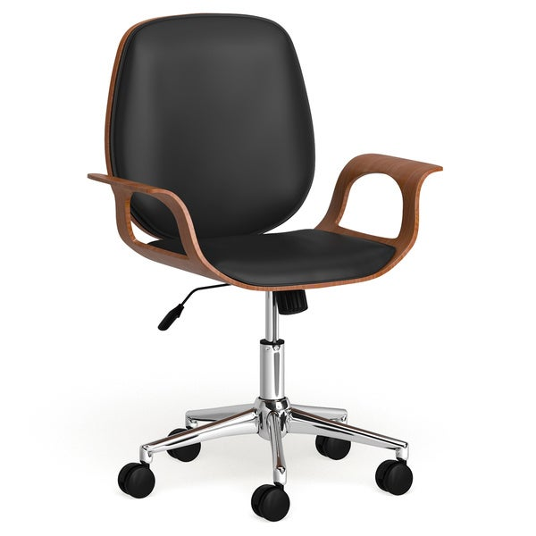 Carson Carrington Leksand Black PU and Walnut Office Chair. Opens flyout.