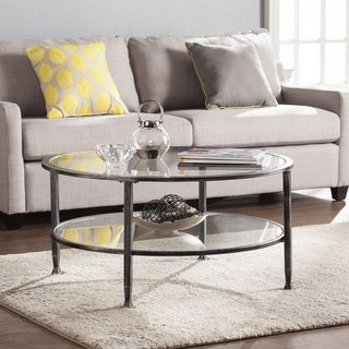 Link to Carbon Loft Glenn Metal/ Glass Round Cocktail Table Similar Items in Living Room Furniture