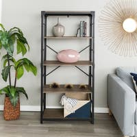 Carbon Loft Minnie 64-inch Iron Angled Bookshelf