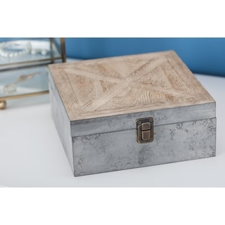 The Gray Barn Jartop Wood Box 8-inches wide, 3-inches high