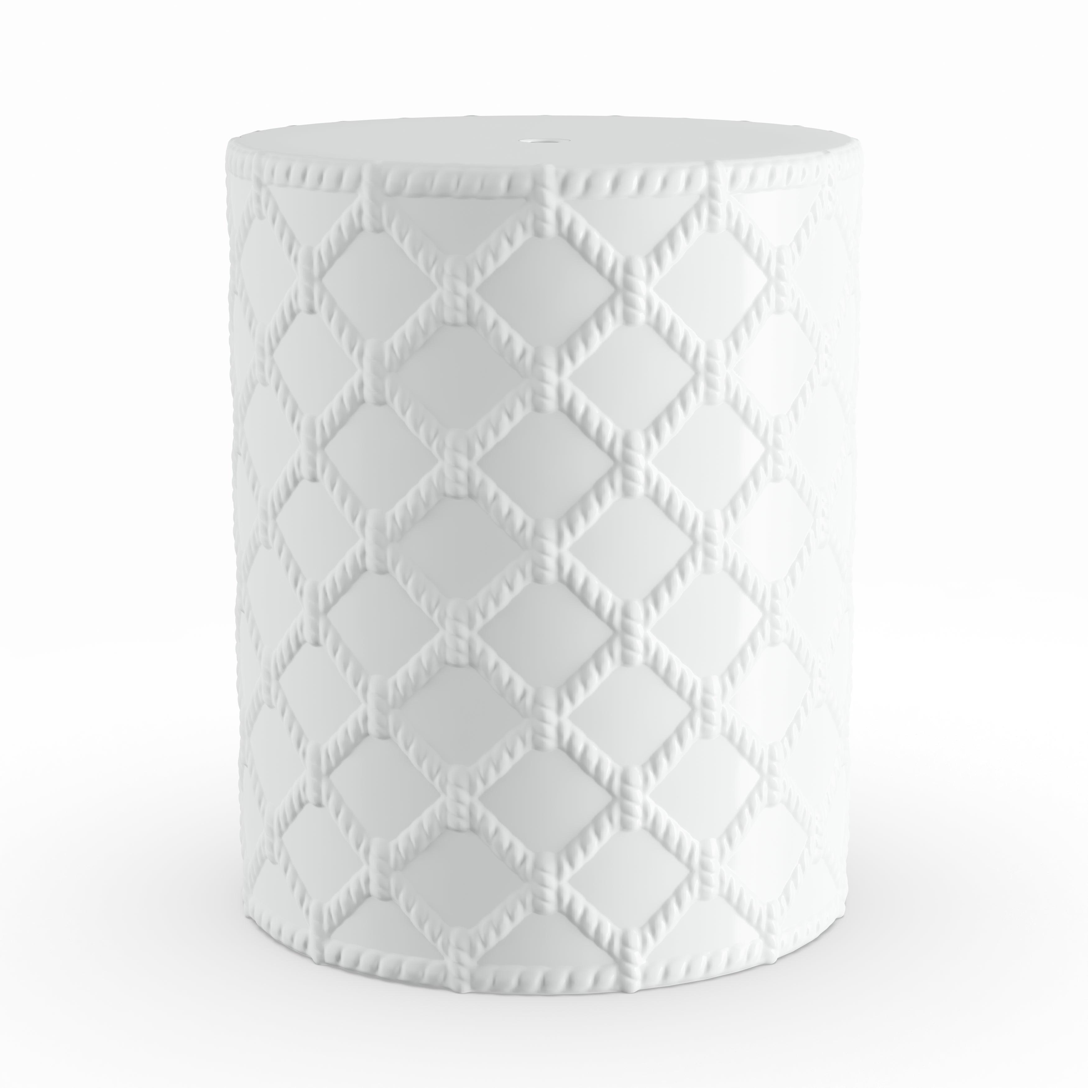 Amazing Havenside Home Winthrop White Modern Ceramic Garden Stool Gamerscity Chair Design For Home Gamerscityorg