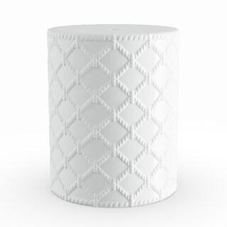 Havenside Home Winthrop White Modern Ceramic Garden Stool