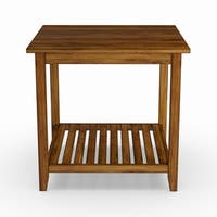 Pine Canopy Acacia Brown Wood End Table
