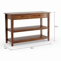Copper Grove Acacia Wood Console Table