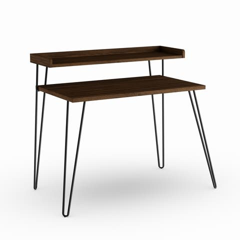 Carson Carrington Hudiksvall Retro Desk with Riser