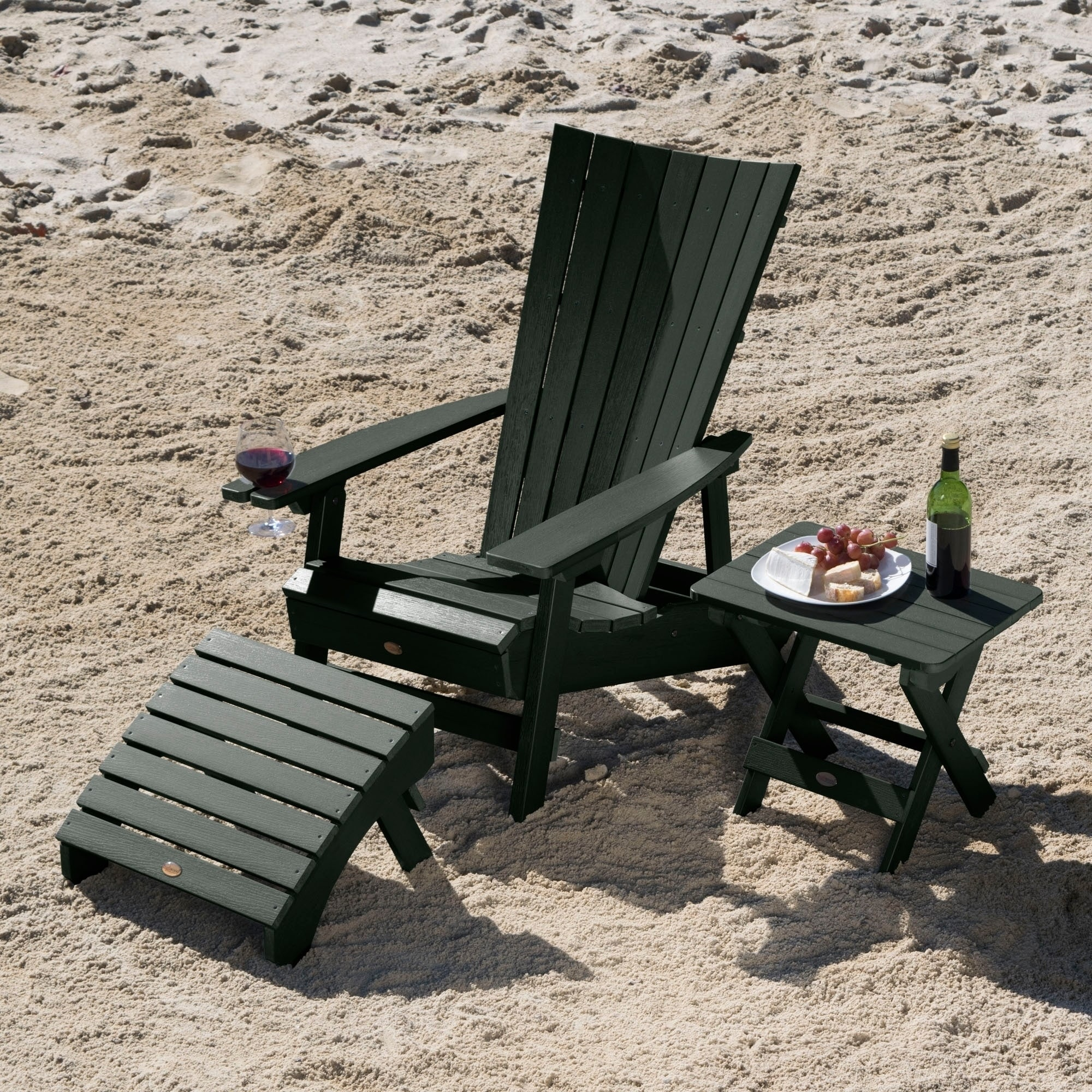 Havenside Home Mandalay Outdoor Chair Ottoman And Table