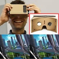 Ulter Clear DIY Cardboard 3D VR Virtual Reality Glasses For Smartphone