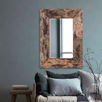Kawaga Birch Bark Mirror - natural wood finish