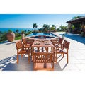 Link to Surfside 7-piece Wood Outdoor Dining Set with Stacking Chairs by Havenside Home Similar Items in Patio Furniture