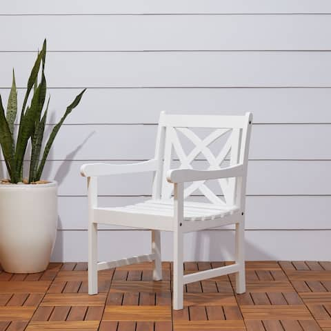 Surfside Eco-friendly Outdoor White Wood Garden Arm Chair by Havenside Home