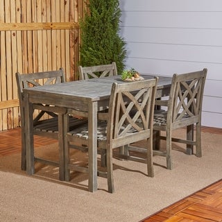 Havenside Home Surfside Eco-friendly 5-piece Hand-scraped Hardwood Dining Set