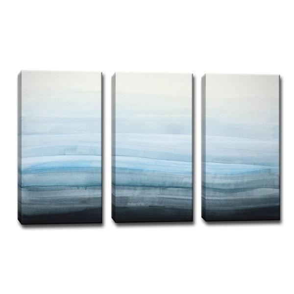Porch & Den Norman Wyatt Jr. 'Coastal Mist' Wrapped Canvas