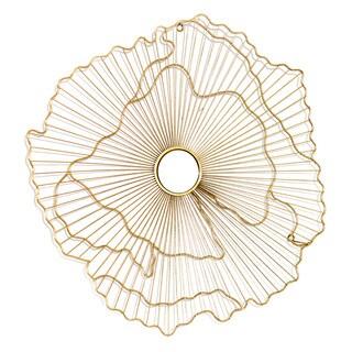 Rachel Goldtone Metal Wall Mirror - GOLD