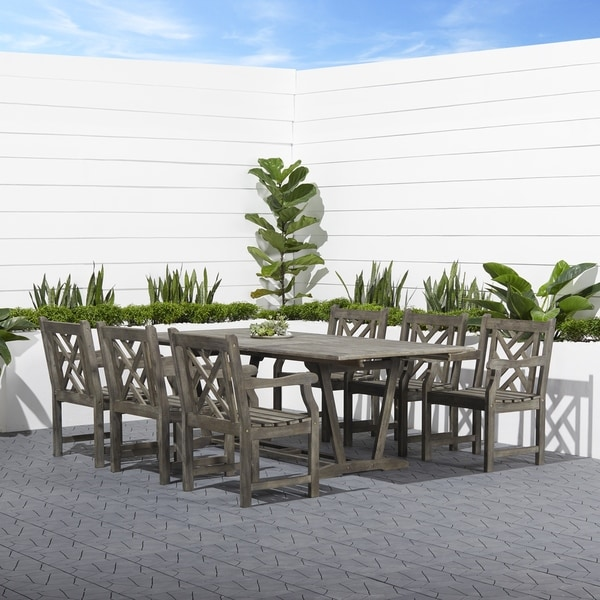 Surfside Eco-friendly 7-piece Hand-scraped Hardwood Dining Set by Havenside Home. Opens flyout.
