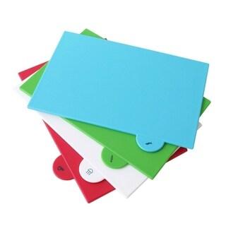 4pcs/set Separately Food Cutting Board Anti-bacterial Chopping Board Mat