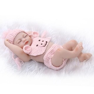 Simulation Baby Reborn Doll Full Silicone Sleeping Newborn Doll Children Toy
