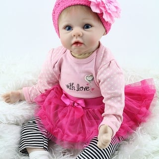 55cm Children Play Toys Baby Doll Playmate Gift Non-toxic Safe Toys Cloth Body